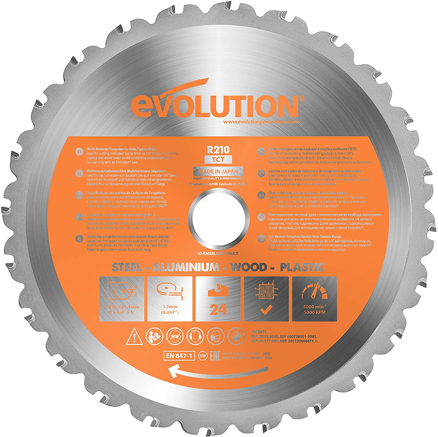 4.2 Disco Multimateriale EVOLUTION POWER TOOLS R210TCT-24T
